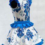 Платье Гжель